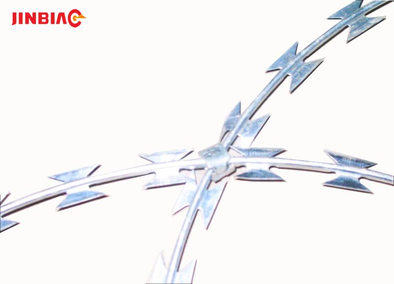 Cheap galvanized concertina stainless steel razor barbed wire
