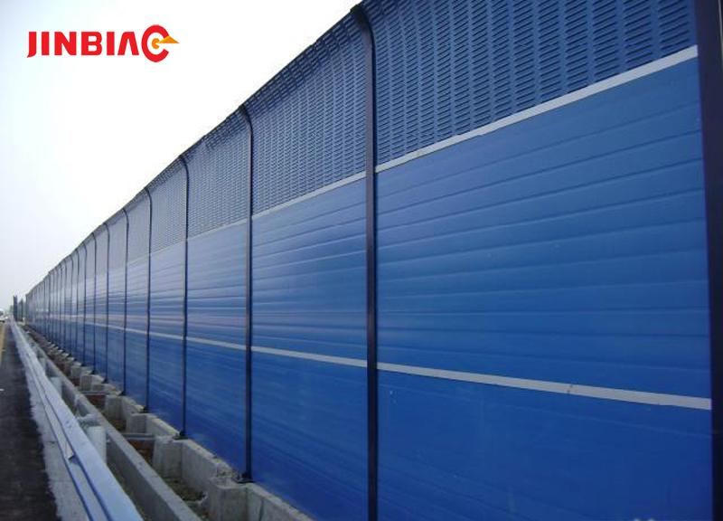 Hebei Anping high quality high way transparent sound barrier