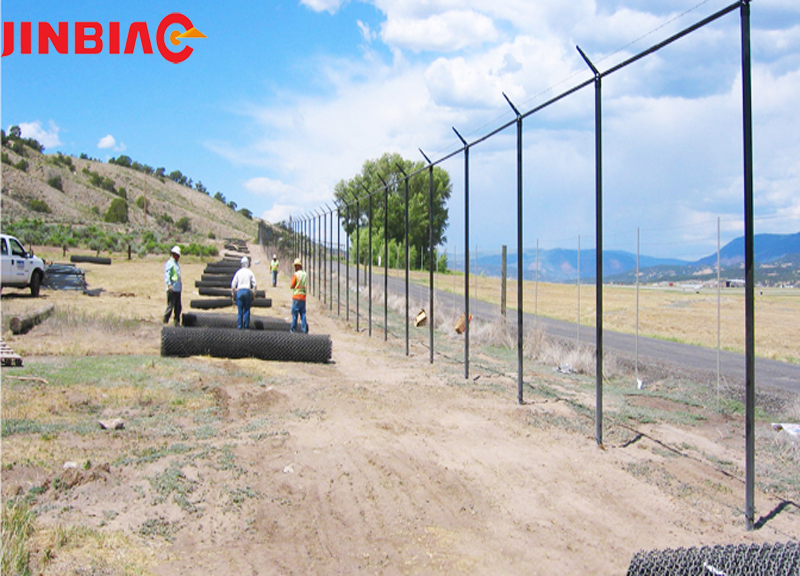 6MM x 25MM White PVC coated wire mesh fence designs