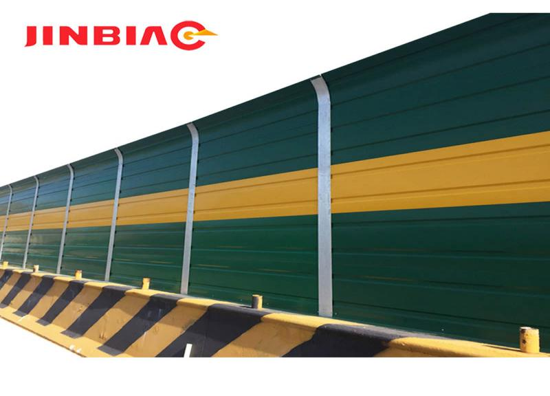 Highways and Bridges Powder painted clear noise barrier sound proof panel