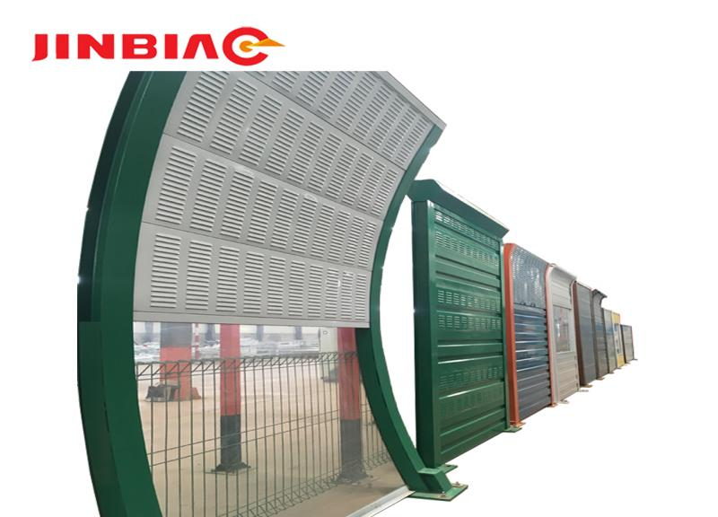 Custom soundproof highway noise protection wall expandable barrier gate