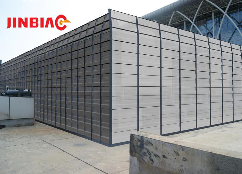 2018 Hot Sale Acoustic Fencing Noise Barriers Galvanized Sheet Sound Barriers Factory-JINBIAO