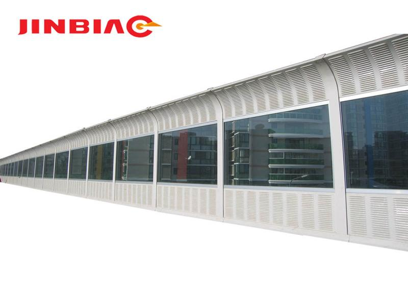 PC sound barrier/polycarbonate solid highway noise barrier/pc solid sheet jinbiao