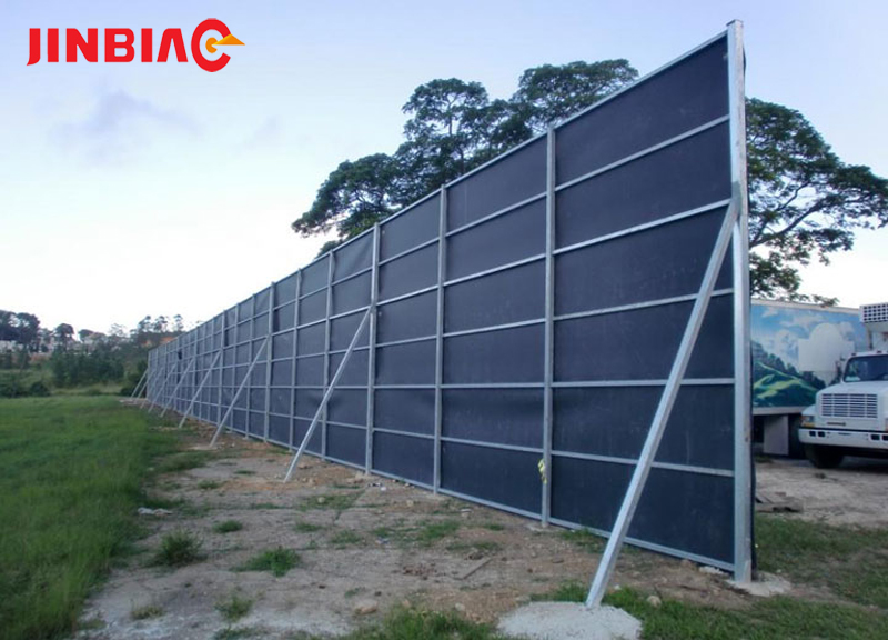 Temporary Noise Barrier For Construction Sound Reduction