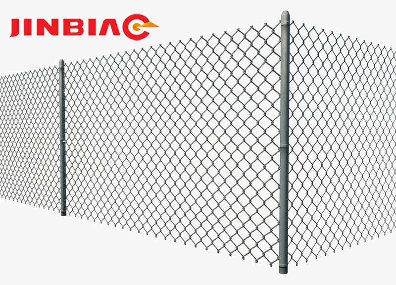 Galvanized and PVC ISO supplier 6ft galvanized Cheap pvc coated chain link woven wire mesh fence