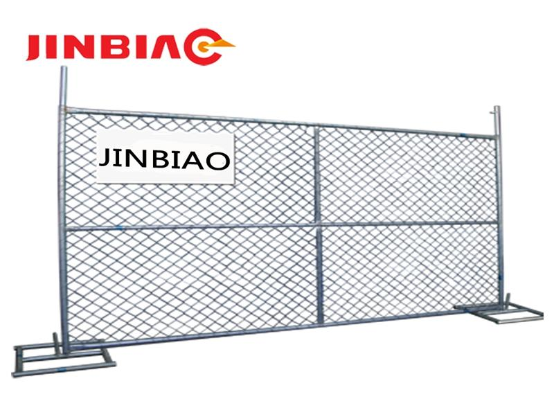 6' high x 10' long chain link portable panels be used temporary fences for construction-jinbiao