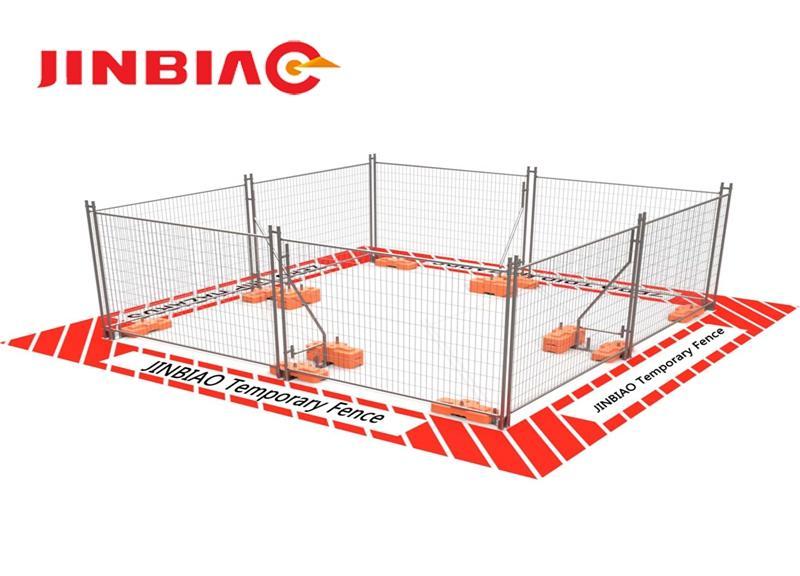 Australia pvc temporary fence panels--jinbiao