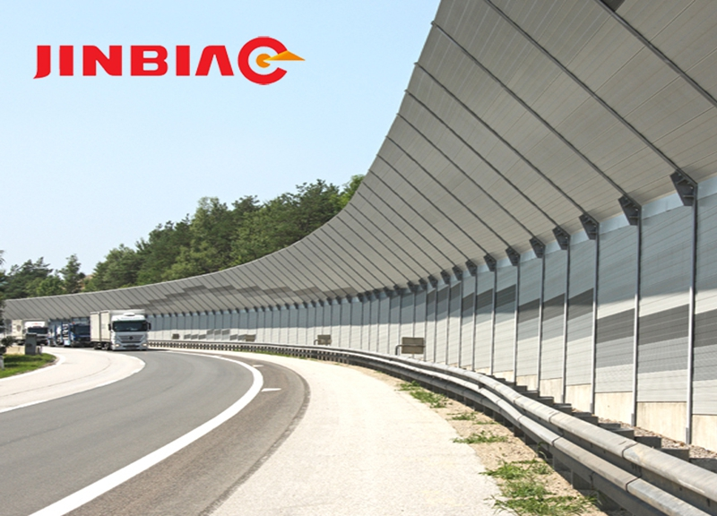 Aluminum Alloy Metal Sound Barriers Noise Barrier Road Barrier--jinbiao