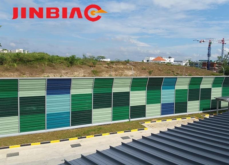 Landscape colorful noise barrier