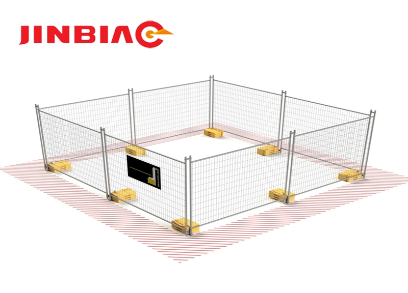 Anping manufacturer hot selling outdoor temporary fence, pvc coated fence netting with low price jinbiao