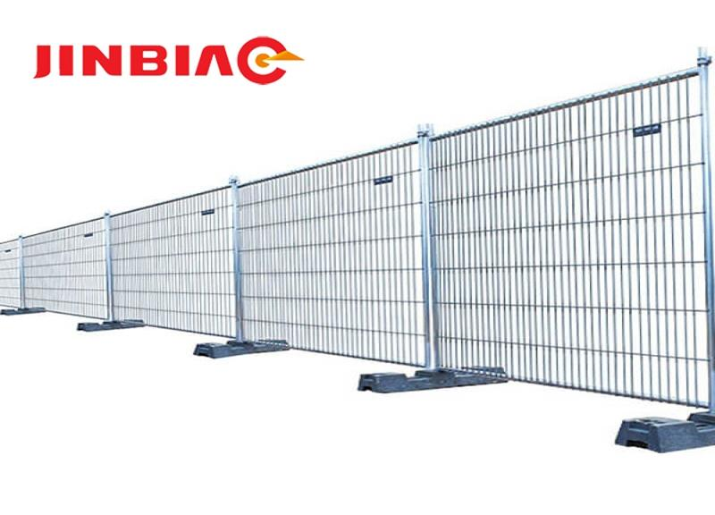 chain link portable panels be used temporary fences for construction jinbiao