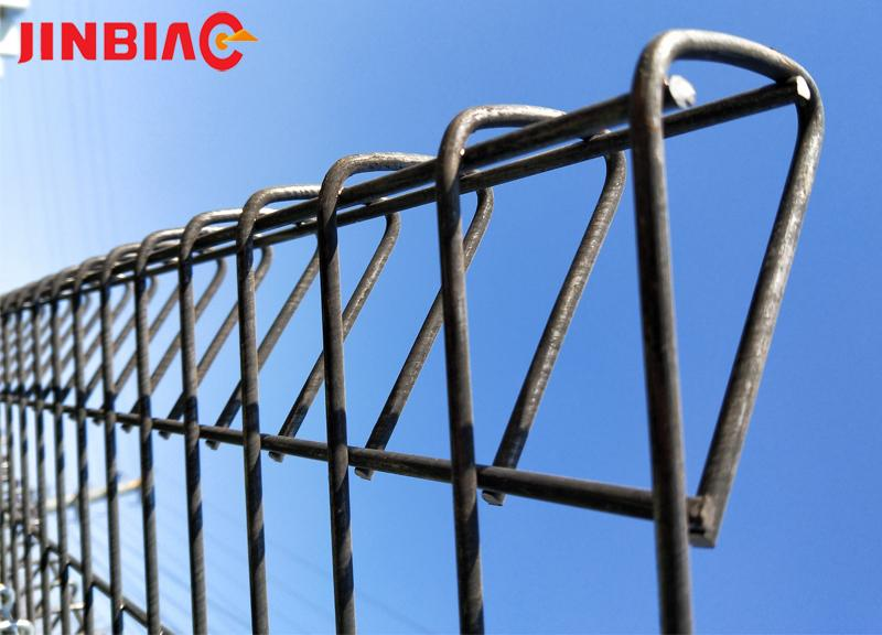 Triangle Bended Fence/ Top Bended Mesh Fence jinbiao