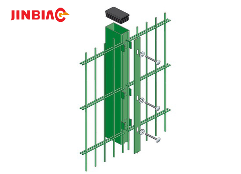SGS / ISO/Approved Double Wire Mesh Fence / Welded Metal Fence jinbiao