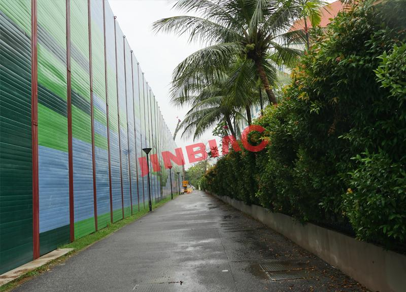 Temporary noise barrier for construction sound reduction jinbiao