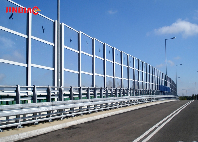 China JINBIAO Tempered glass noise barrier manufacturer
