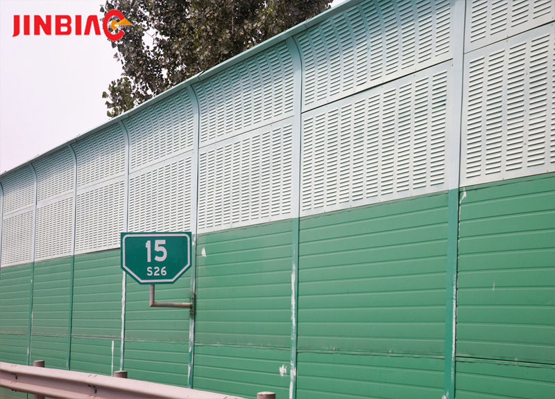 China JINBIAO Sound insulation Top arc noise barrier manufacturer