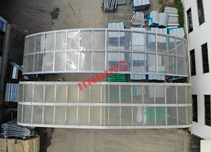 China JINBIAO Sound insulation Full enclosed noise barrier manufacturer