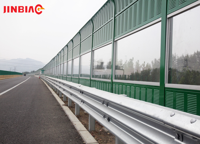 China JINBIAO Sound insulation Curved noise barrier manufacturer