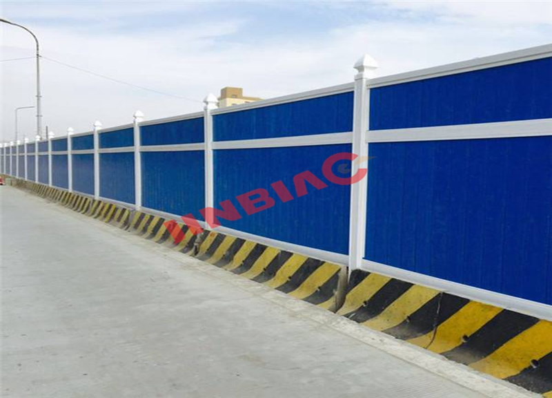 China JINBIAO Color steel plate noise barrier manufacturer