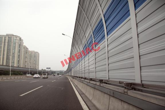 Metal blinds sound-absorbing high-speed sound barrier