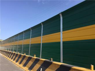 What are the meanings of different highway sound barrier colors?